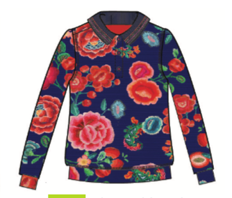 AW18 Oilily Girls Tjippy Fancy T-Shirt 59 Painted Embroidery Flower