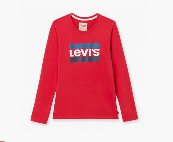 AW18 Levi's Boys Red And Blue Logo Top