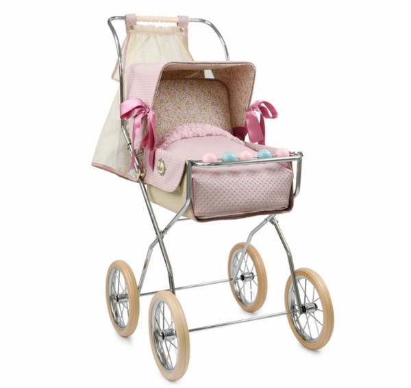 Bebelux Vintage Powder Doll's Pink Pushchair