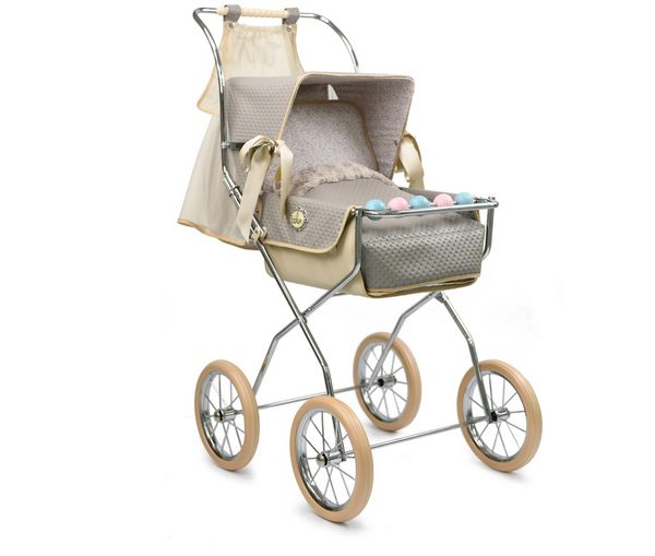 Bebelux Vintage Grey Vintage Doll's Pushchair
