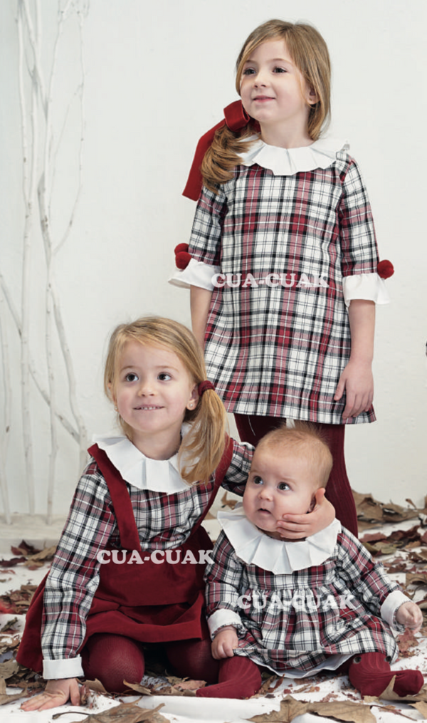 AW18 Cua Cuak Girls Tartan Dress 9200