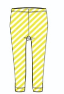 SS19 Oilily Girls Tiska Leggings 81 Yellow Striped