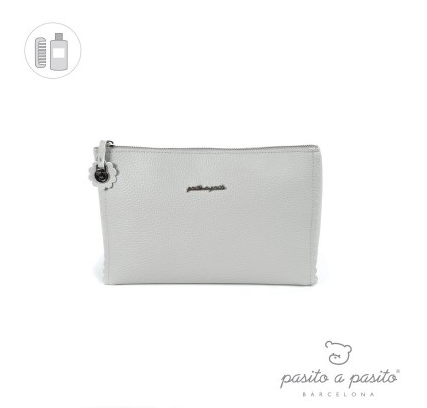 Pasito a Pasito Grey Biscuit Toiletry Bag