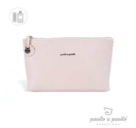Pasito a Pasito Pink Biscuit Toiletry Bag