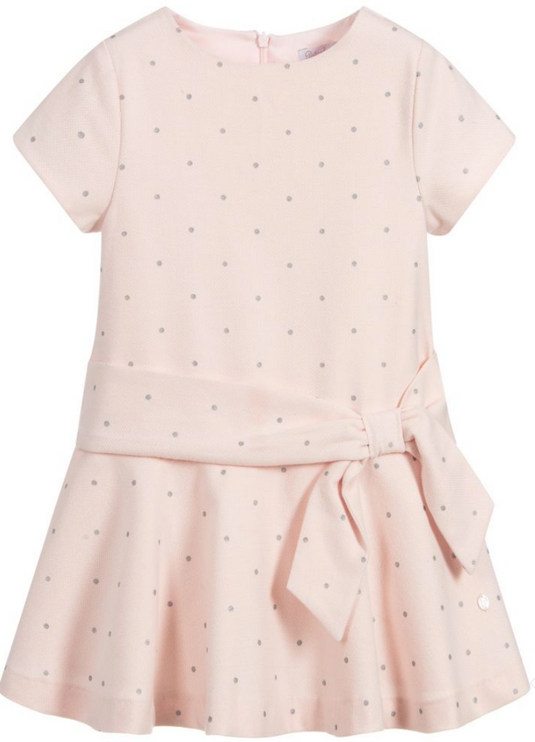 AW19 Patachou Girls Pink & Silver Spots Dress