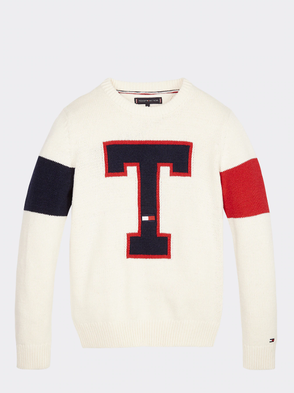 AW19 Tommy Hilfiger Boys T Badge Logo Jumper