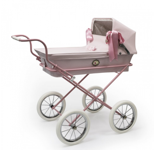 Bebelux Spanish 'Sweet Mini Pink' Doll's Pram