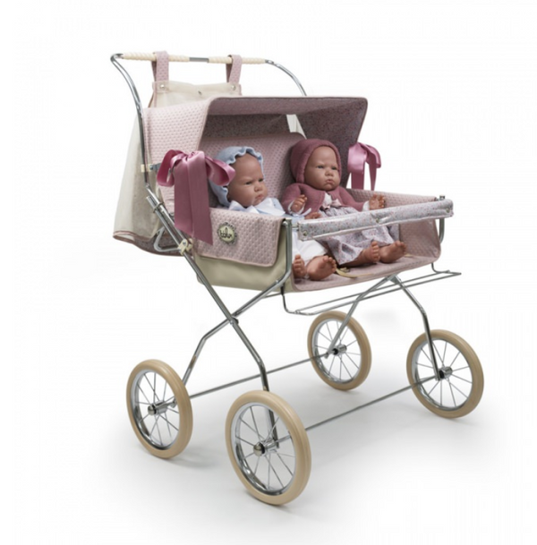 Bebelux Vintage Powder Pink Twin Pushchair