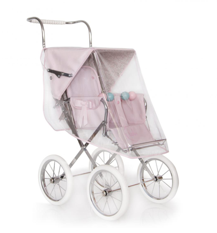 BebeLux Baby Pink 'Sweet Big' Doll's Pushchair Raincover