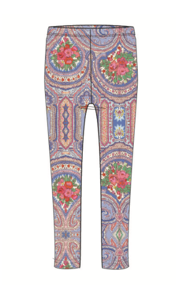 SS20 Oilily Girls Tiska Rose Blue Leggings