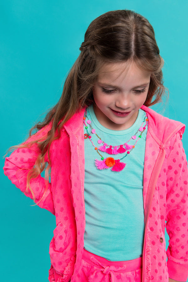 SS19 Mim-Pi Girls Green Necklace Top 260