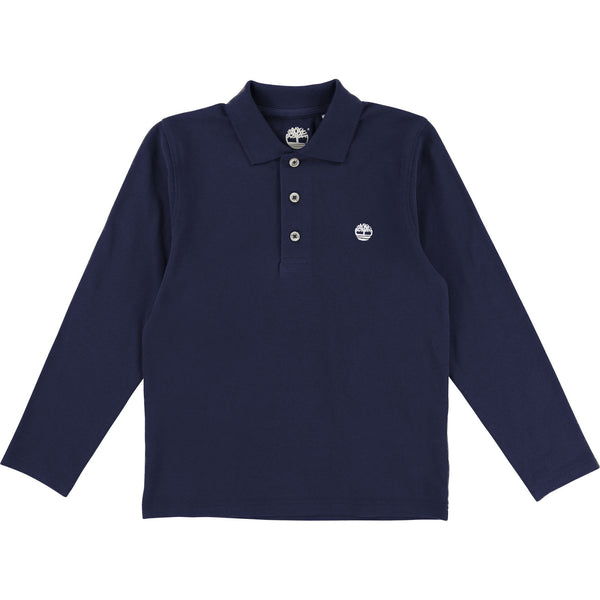 AW18 Timberland Boys Navy Blue Long Sleeved Polo Top