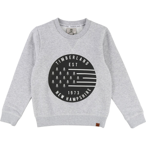 AW18 Timberland Boys Grey 'New Hampshire' Sweatshirt