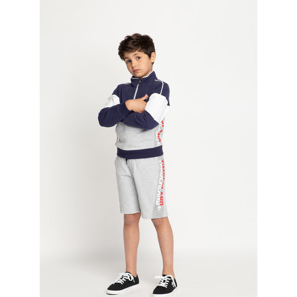 SS20 Timberland Boys Navy Blue & Grey Sweatshirt
