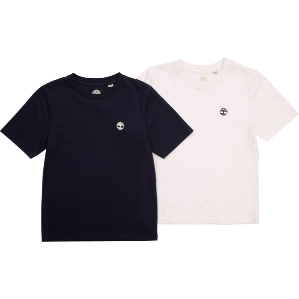 PRE-ORDER SS21 Timberland Boys Navy Blue & White Logo T-Shirt Set