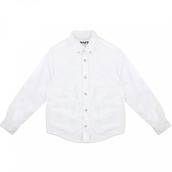 AW19 Timberland Boys White Oxford Shirt