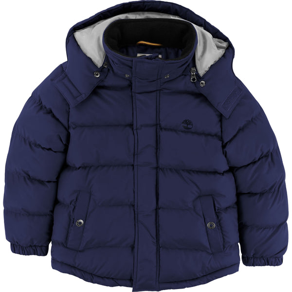 AW19 Timberland Boys Classic Navy Blue Puffer Coat