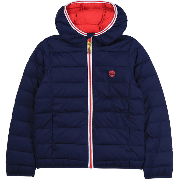 AW20 Timberland Boys Navy Blue Puffer Coat
