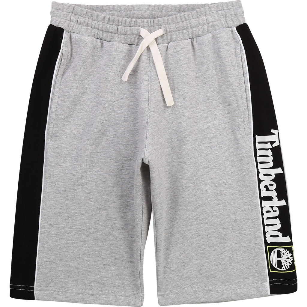 PRE-ORDER SS21 Timberland Boys Grey & Black Jersey Shorts