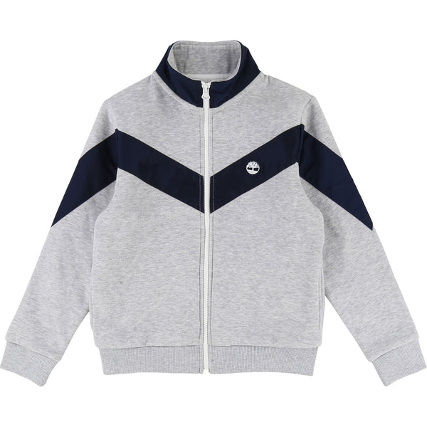 AW18 Timberland Boys Grey & Navy Blue Tracksuit top