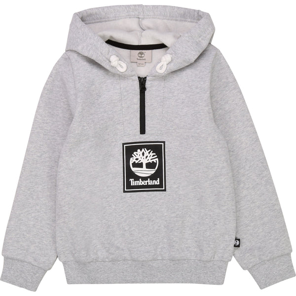 AW20 Timberland Boys Grey Hooded Sweatshirt
