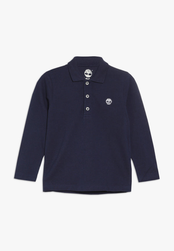 AW19 Timberland Boys Navy Blue Long Sleeved Polo Top