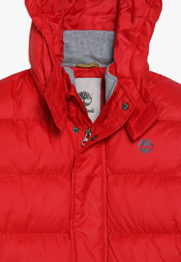 AW19 Timberland Boys Classic Red Puffer Coat