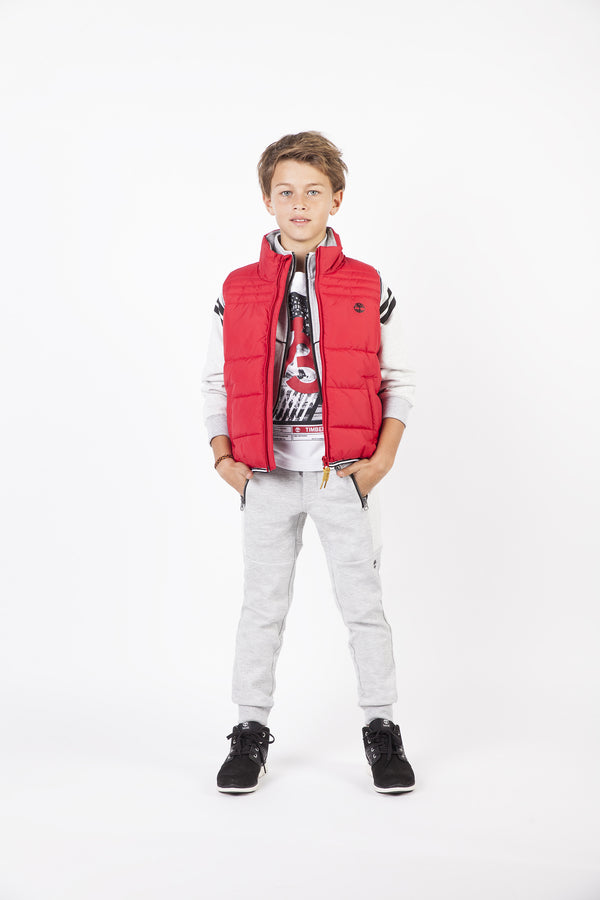 AW18 Timberland Boys Red Padded Gilet 4-14 Years