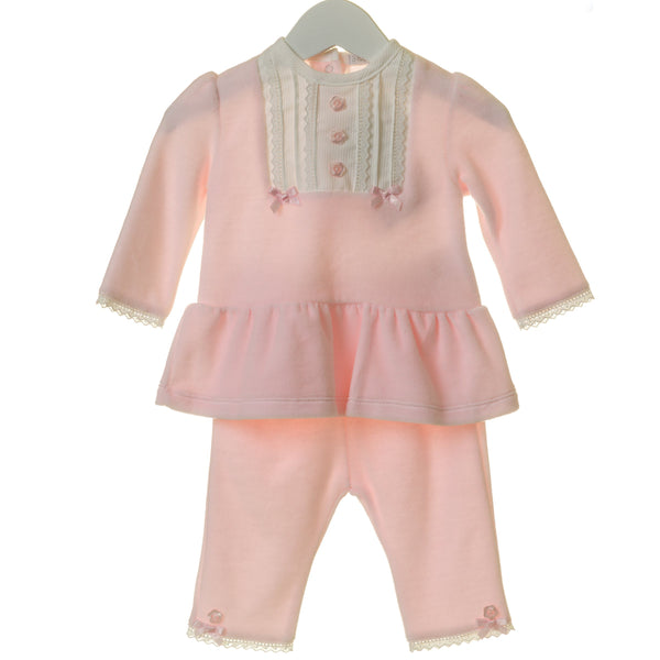 AW20 Blues Baby Baby Girls Pink Velour Set TT0164