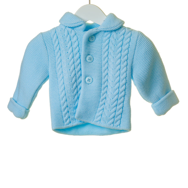 AW19 Blues Baby Blue Knitted Cardigan & Hat Set TT0267