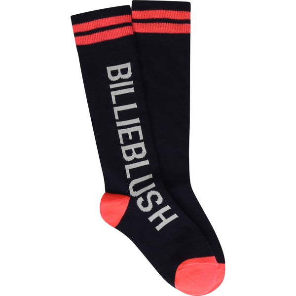 AW20 Billieblush Girls Navy Blue Knee High Socks