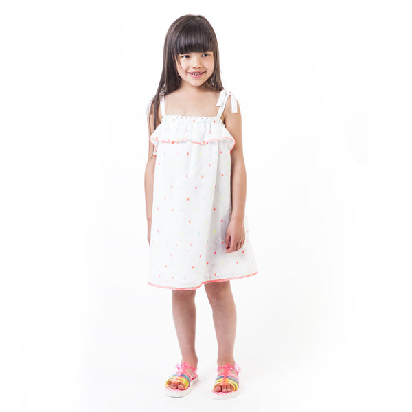 SS19 Billieblush Girls White Ruffle Dress