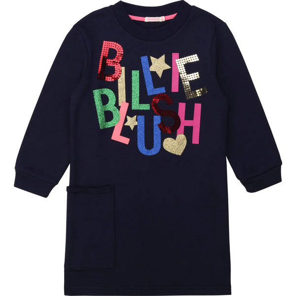 AW20 Billieblush Girls Navy Blue Logo Dress
