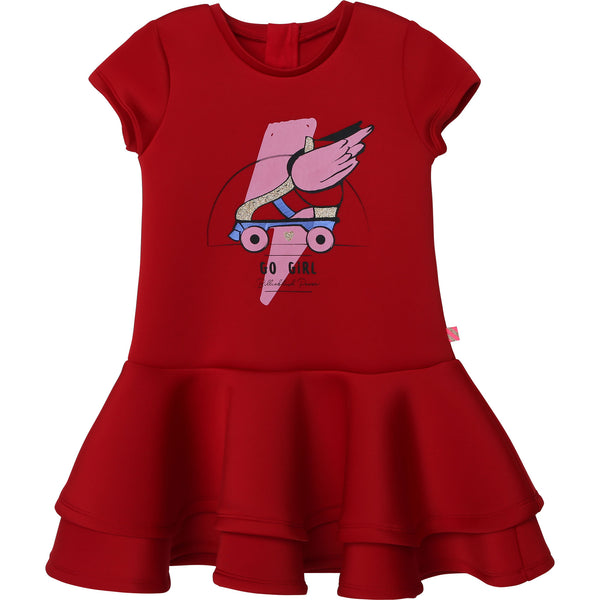 AW20 Billieblush Girls Red 'Go Girl' Dress