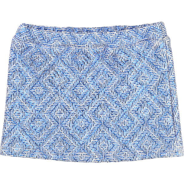 AW16 Billieblush Girls Electric Blue Tribal Print Skirt U13111 - Liquorice Kids