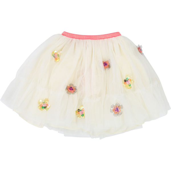 SS19 Billieblush Girls Cream Tulle Skirt