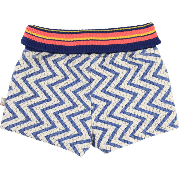 AW16 Billieblush Girls Blue And White Tribal Print Shorts U14179 - Liquorice Kids