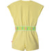 PRE-ORDER SS21 Billieblush Girls Yellow Playsuit