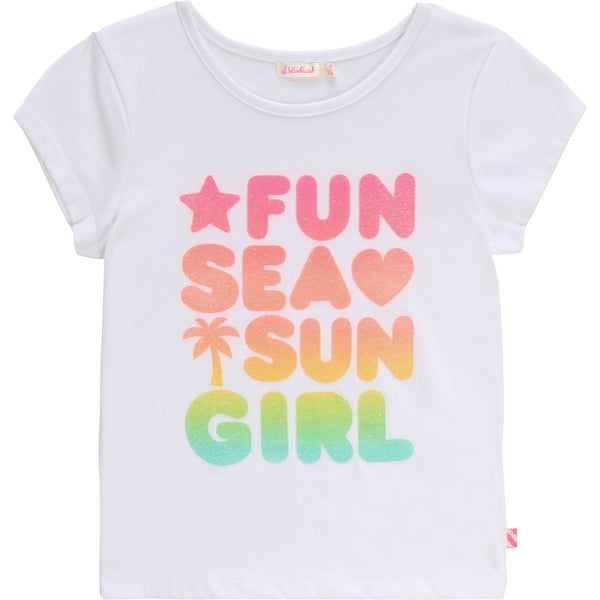 SS20 Billieblush Girls 'Fun, Sea, Sun Girl' Top