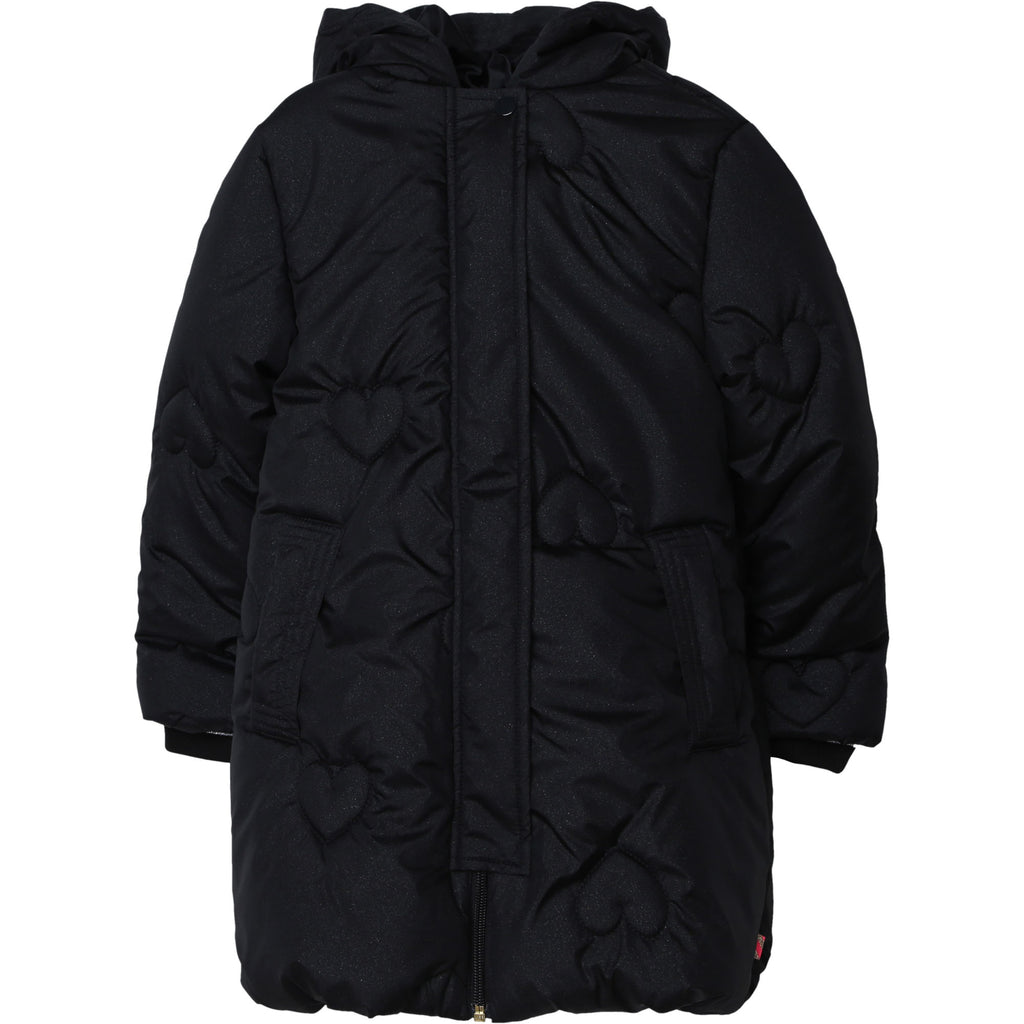 AW20 Billieblush Girls Black Hearts Coat
