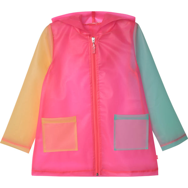 SS21 Billieblush Girls Rainbow Raincoat
