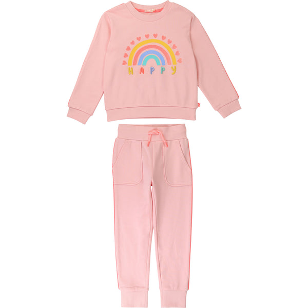 SS21 Billieblush Girls Pink Happy Tracksuit