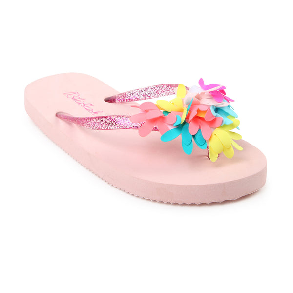 SS19 Billieblush Girls Pink Flower Flip Flops