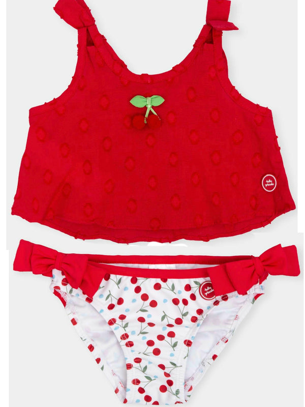 SS19 Tutto Piccolo Girls Cherry Swim Set 6377
