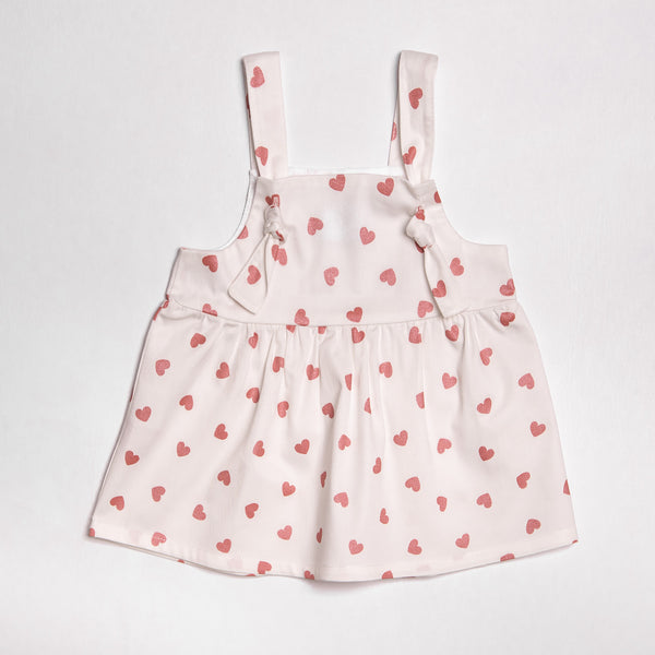SS19 Floc Girls Hearts Dress