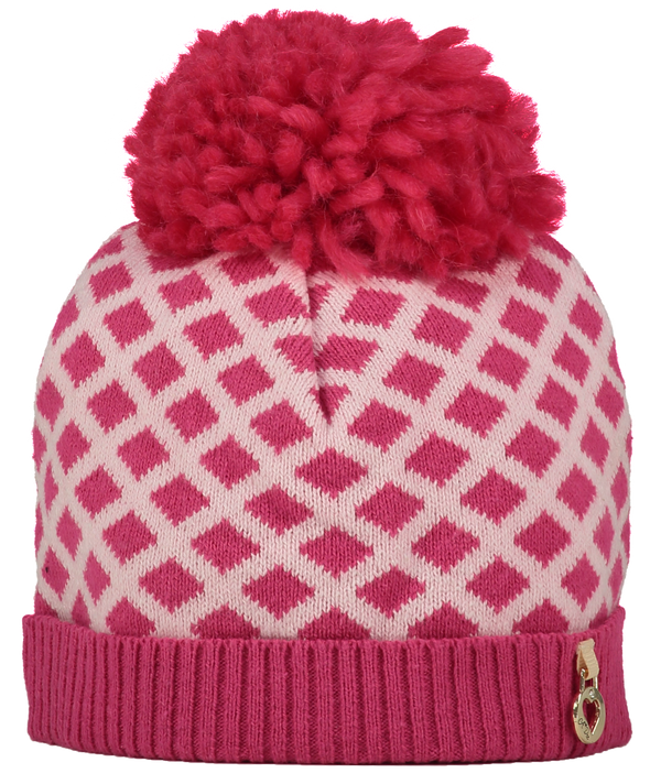 AW18 A*Dee Girls Abby Pink Princess Knitted Hat