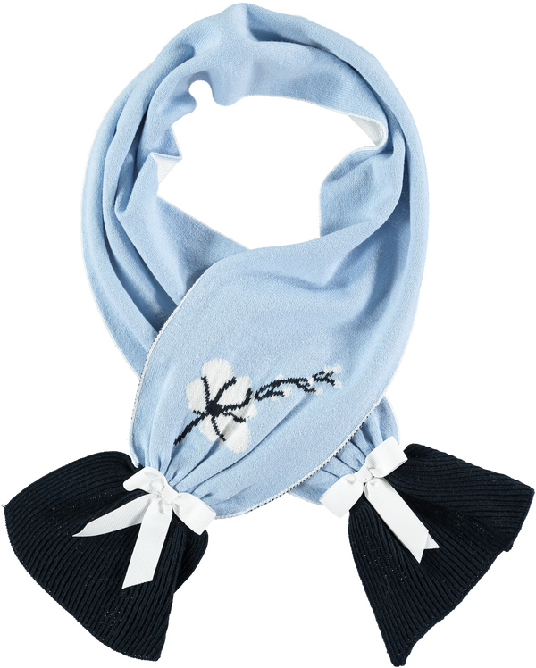 AW18 A*Dee Girls Alice Bluebird Knitted Scarf