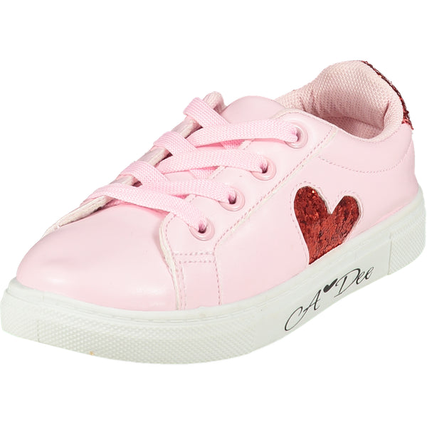AW20 A Dee Girls Pink Love Heart Trainers