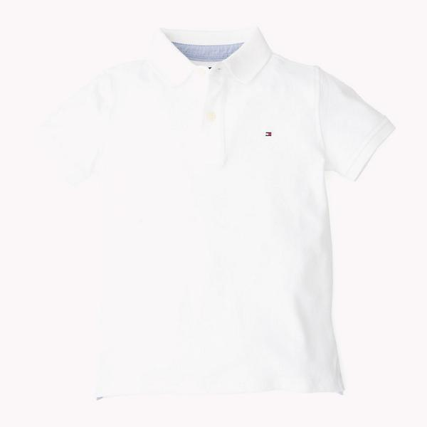 SS19 Tommy Hilfiger Boys White Polo Top