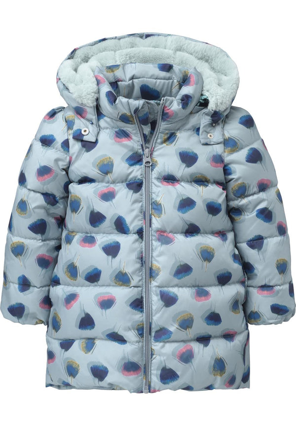 AW17 Oilily Girls Cheddar Coat 53 Feathers - Liquorice Kids